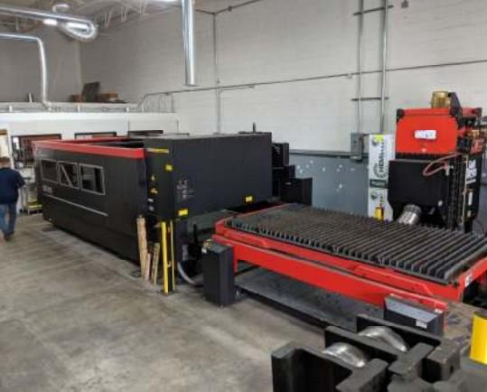 USED AMADA 5' X 10' MODEL LCG 3015 CO2 3,500 WATT LASER, YEAR 2014,  STOCK NO. 10634