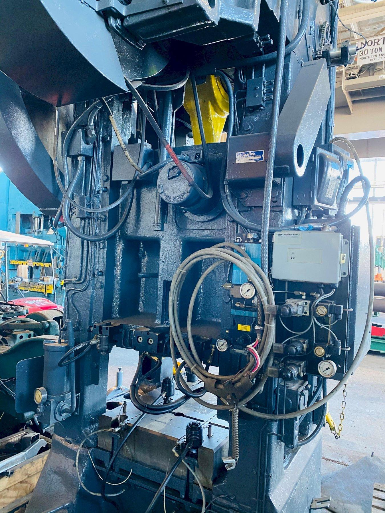 100 TON BLISS S1-100-24-30 STRAIGHT SIDE PRESS. STOCK # 1263020