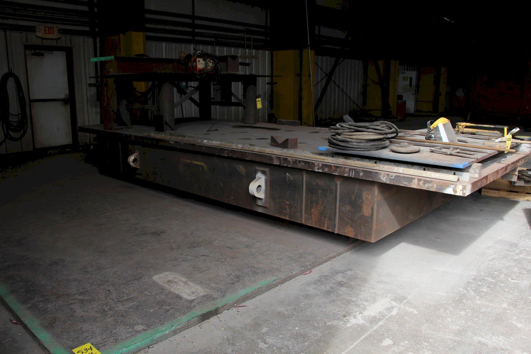 "97"" X 241"" STEEL LAYOUT TABLE WITH 3"" PLATE TOP: STOCK 11833"