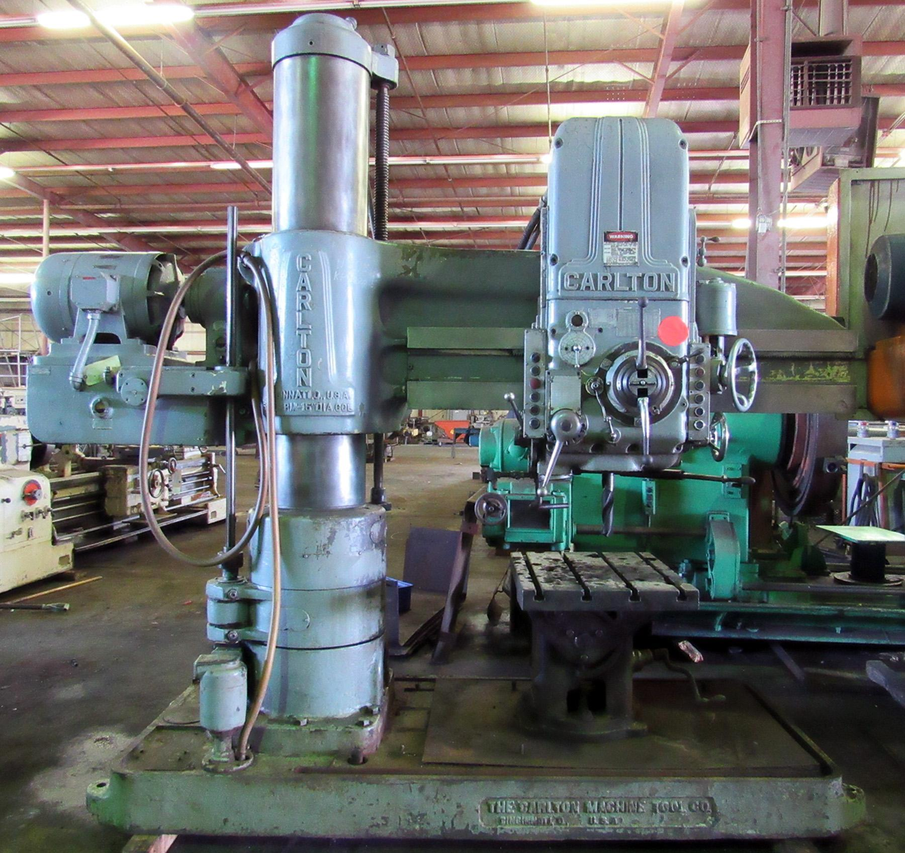 "USED, 5' 15"" CARLTON RADIAL ARM DRILL"