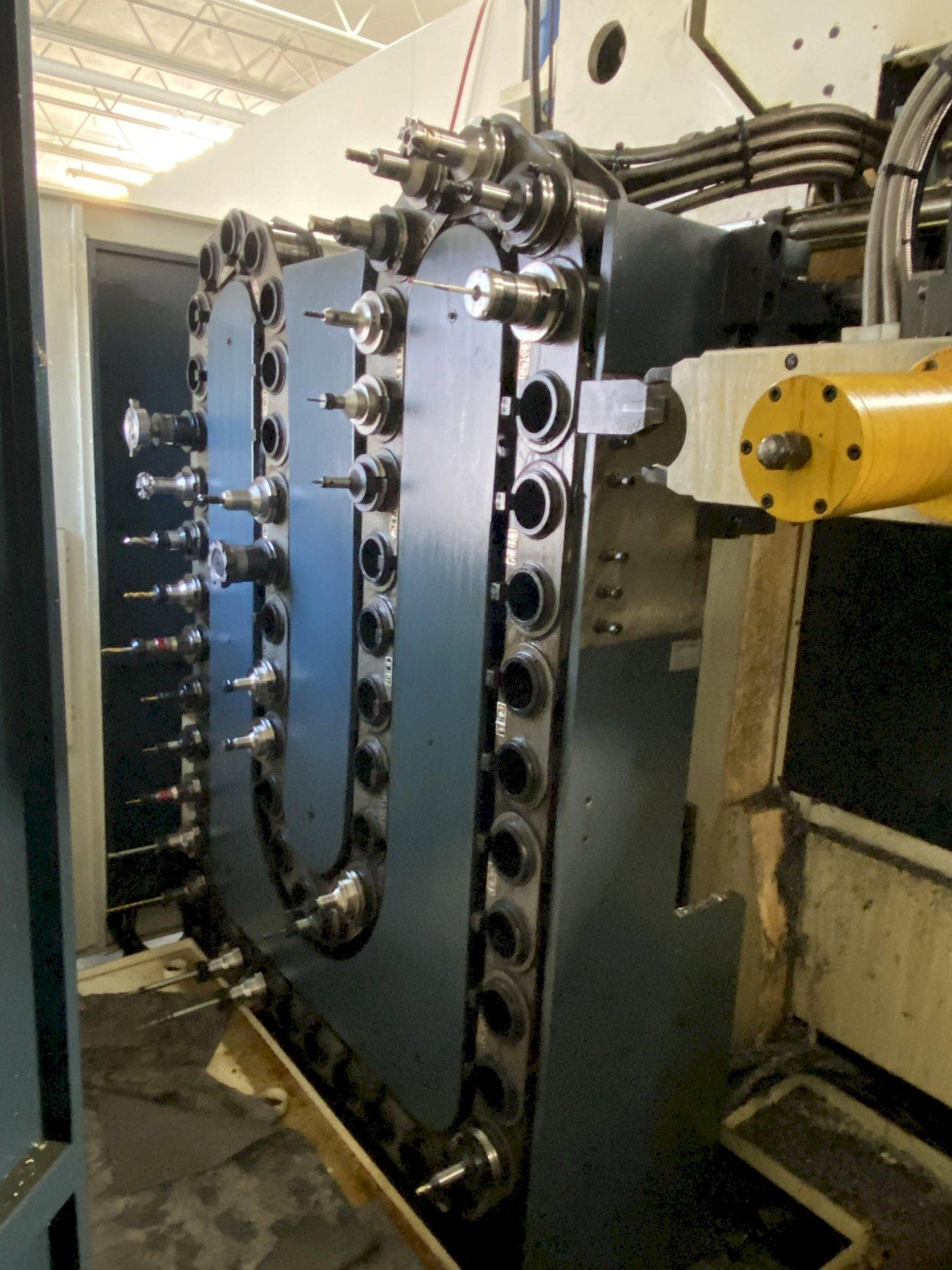 JOHNFORD DMC 5100SH+5F CNC BRIDGE TYPE VERTICAL MACHINING CENTER W/RIGHT ANGLE HEAD