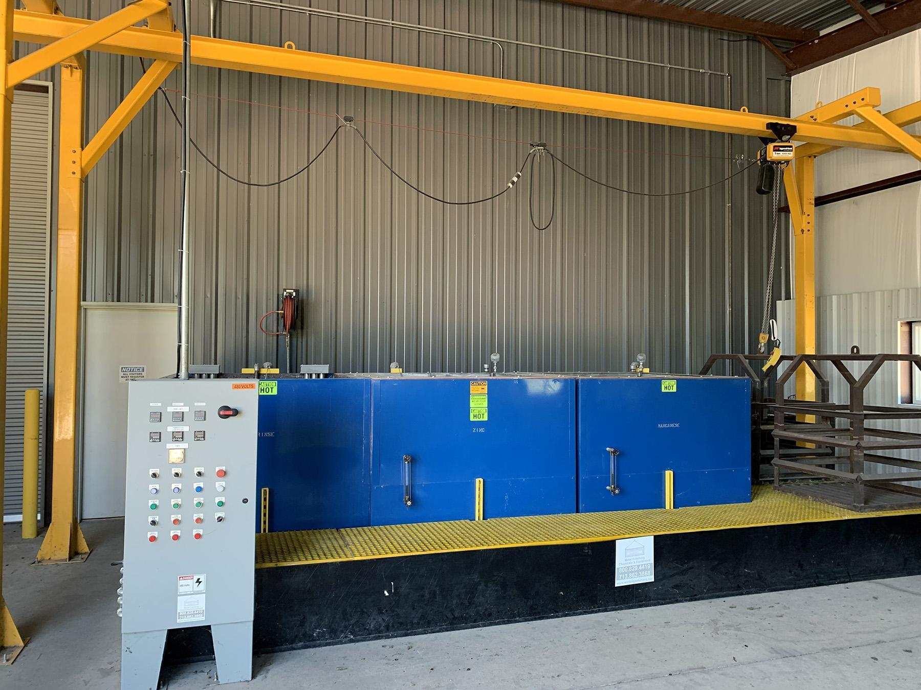 USED, PHOSPHATE FINISHING LINE (METAL FINISHING CHEMICALS AND EQUIPMENT COMPANY)