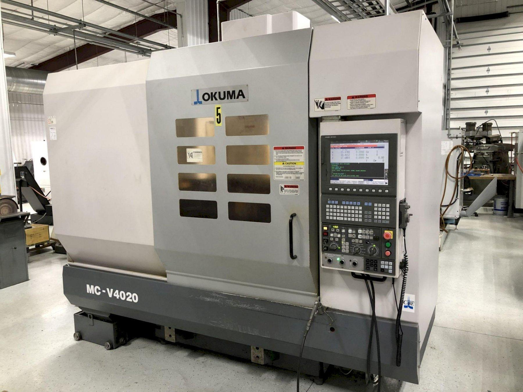 "Okuma MCV4020 CNC Vertical Machining Center, OSP P200M, 40""/20""/18"" Travel, 32 ATC, Probing, Coolant Thru Spindle, 2007"