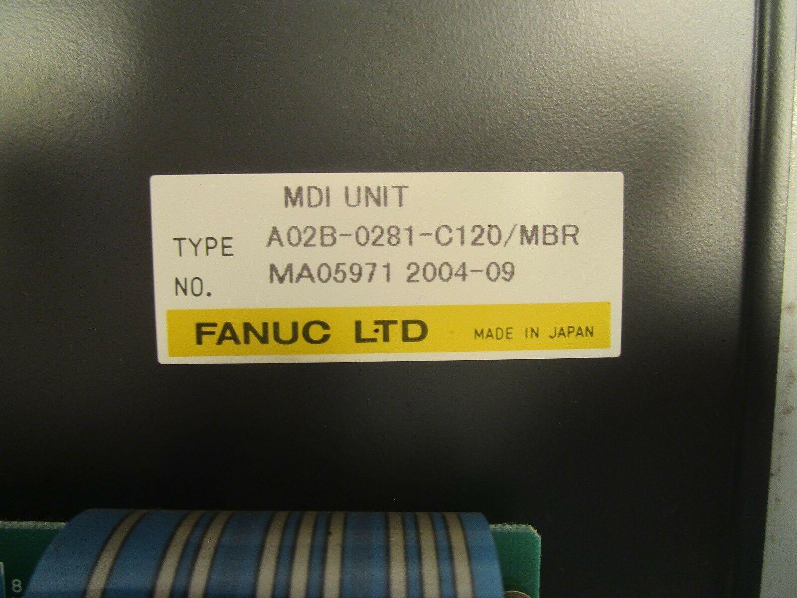 Fanuc Key Pad A02B-0281-C120 / MBR