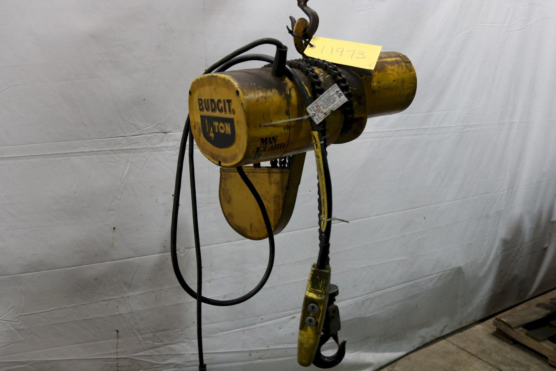 500 LB BUDGIT ELECTRIC POWERED CHAIN HOIST: STOCK #11973