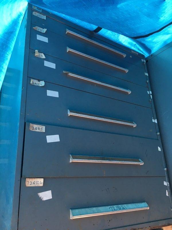 6 DRAWER 45' X 27-3/4' X 57' VIDMAR CABINET: STOCK #68840