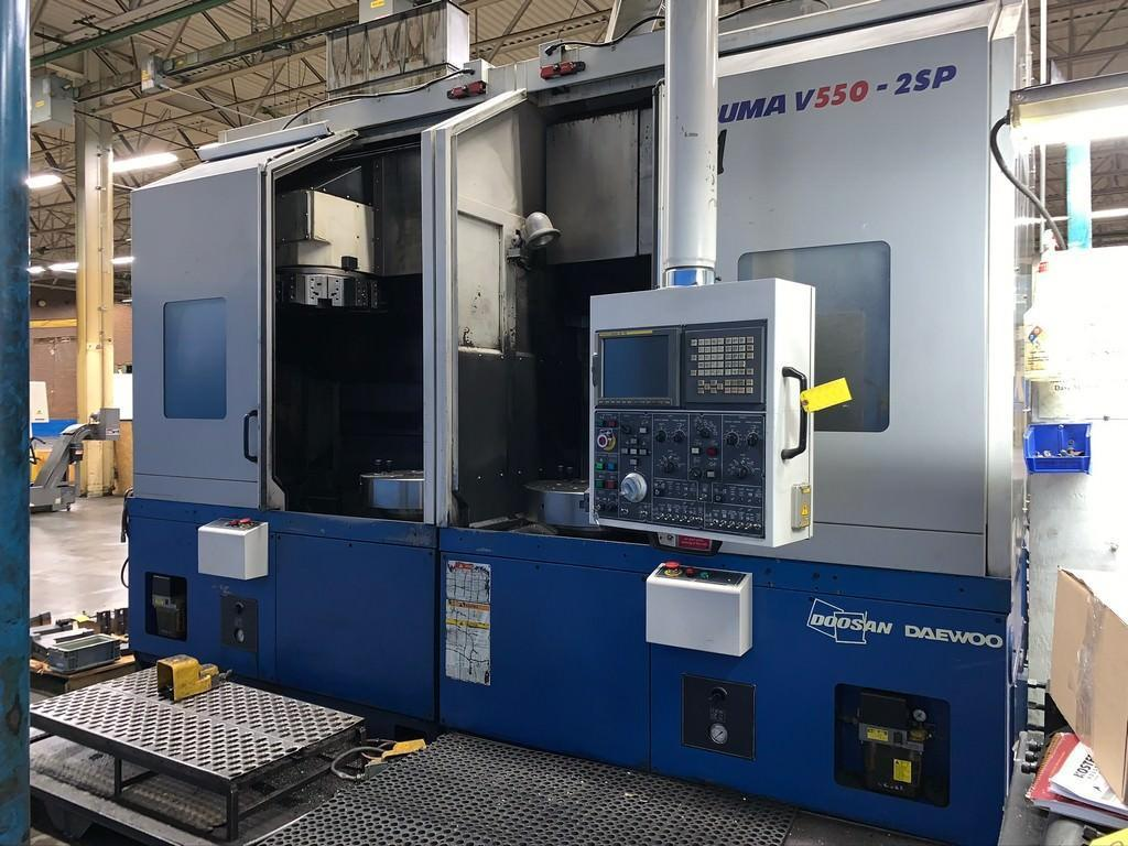 Doosan Puma V550-2SP Twin-Spindle CNC Vertical Turning Center, New 2006