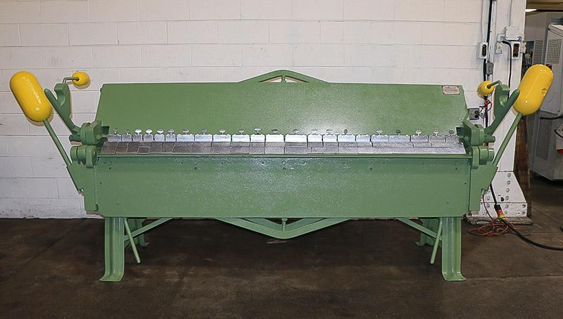 12 Ga x 8 ft Chicago Box & Pan Brake Model L-37
