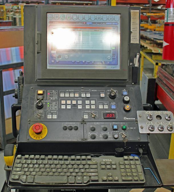 4000 WATT AMADA MODEL F0-3015 NT CNC CO2 LASER CUTTER: STOCK # 70005