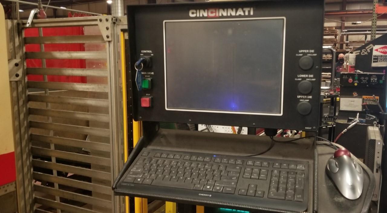 1999 Cincinnati 90FM-II, 10' x 90 Ton CNC Hydraulic Press Brake