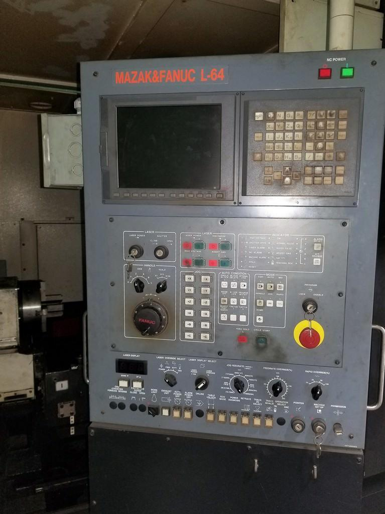 2014 Mazak, Space Gear U44 2500 Watt Laser System