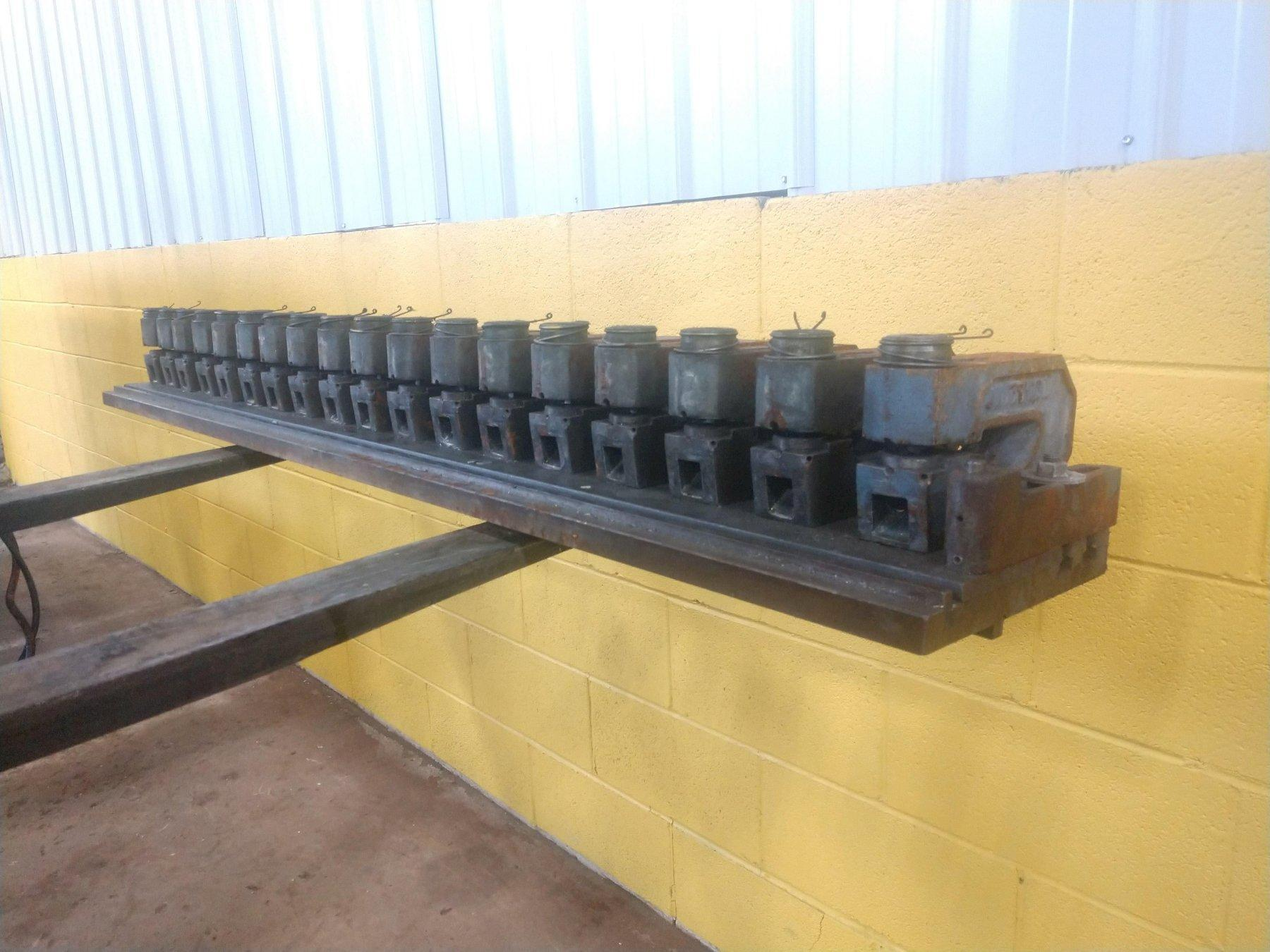 18 UNITTOOL UNI-PUNCHES MOUNTED ON DIE RAIL: STOCK 12720
