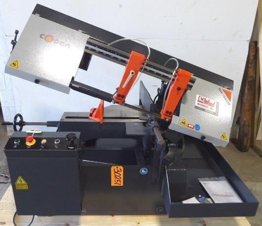 "9"" x 18"" COSEN Horizontal Band Saw Model SH-460M, Miter, Semi-Auto, 1"" Blade 2 HP, New"