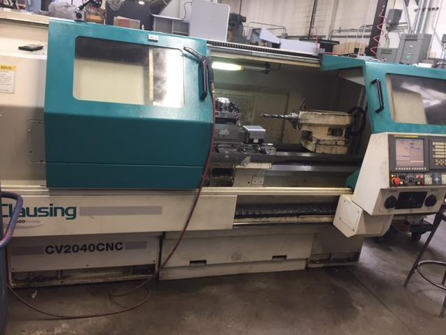 CLAUSING MODEL CV 2040 CNC FLAT BED LATHE
