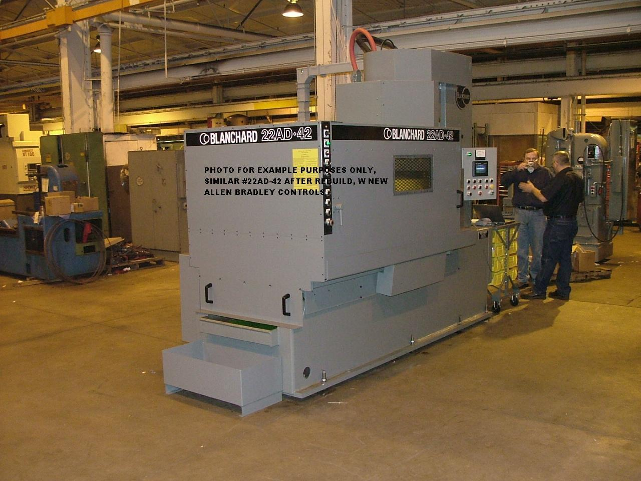 Blanchard #22AD-42, 42″ Vertical Spindle Rotary Surface Grinder with  A/B PLC, Servo Drive, Re-manufactured w/ Warranty
