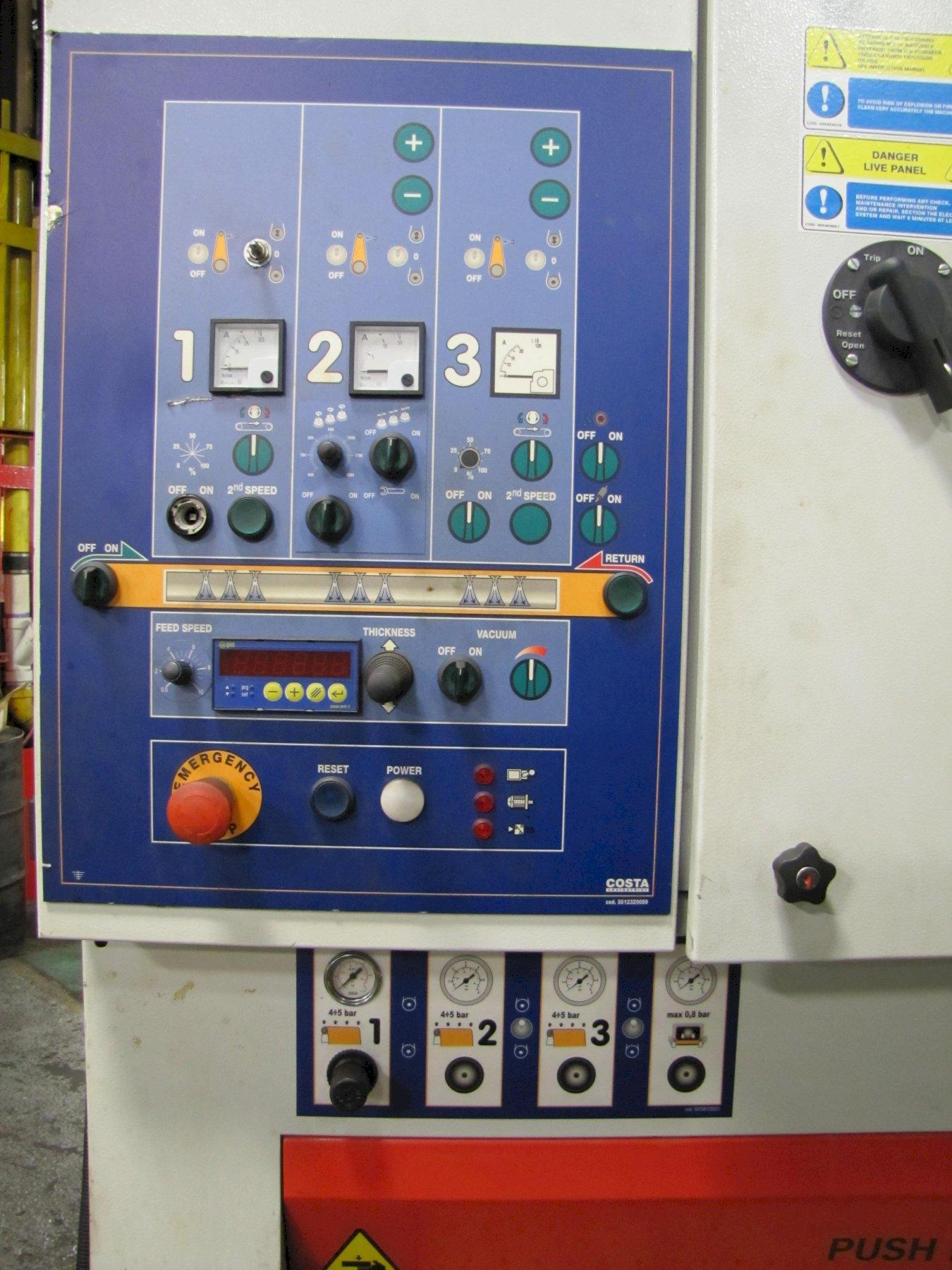 USED COSTA MODEL MD4-CV-1150 WIDE BELT DEBURRING AND FINISHING MACHINE, YEAR 2015, STOCK NO. 10828