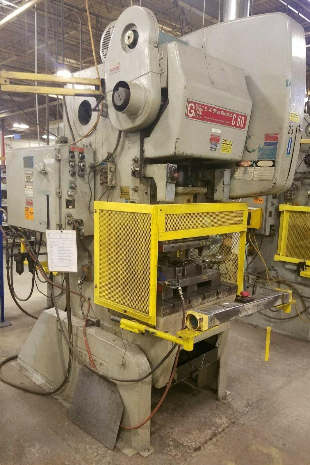 60 ton Bliss C-60 OBI Flywheel Press, New 1980