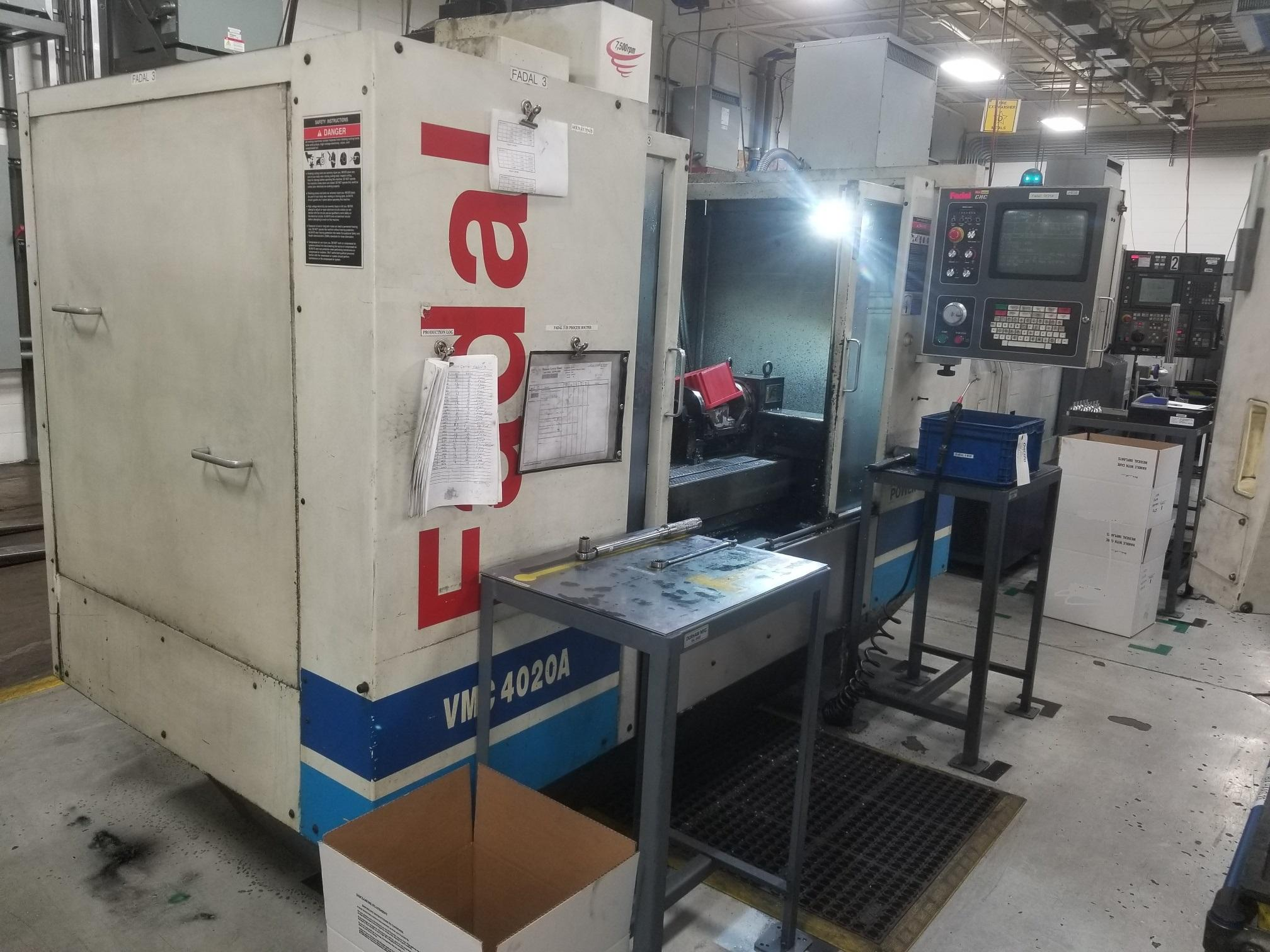 FADAL VMC 4020A CNC VERTICAL MACHINING CENTER