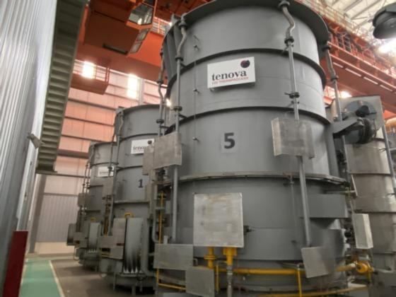 """172"""" (4,400MM) X 78"""" (2000MM) TENOVA LOI HYDROGEN BELL ANNEALING FURNACES, 2015   Our stock number: 114441"""