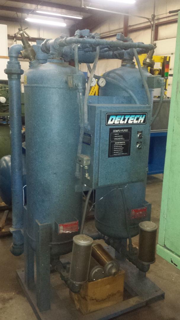 DelTech Heatless Compressed Air Dryer Model: PS490CFHM S/N: 4589032b2 Mfg: 1989