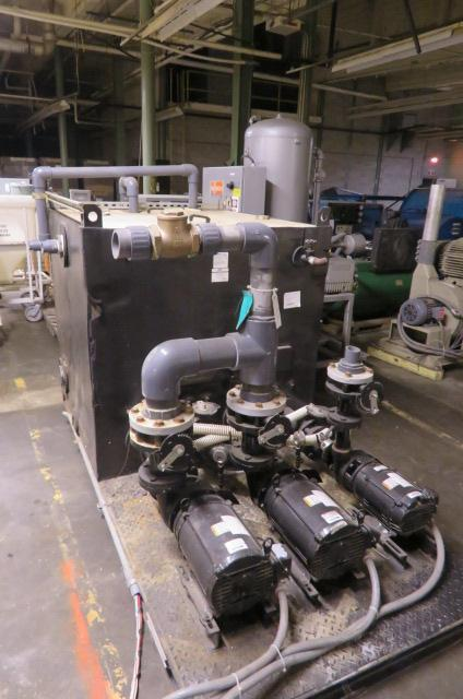 AEC C500D Chiller Tank and Process Pumps, Dual Well, (2) 15hp, (1) 5hp, 460V, Yr. 2008