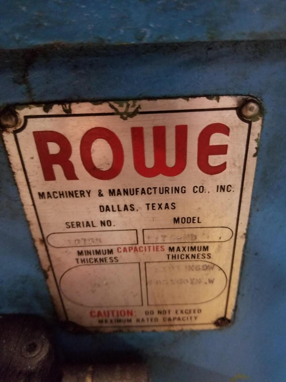 "12000 LB x 60"" x .109""  Rowe Cut To Length Line"