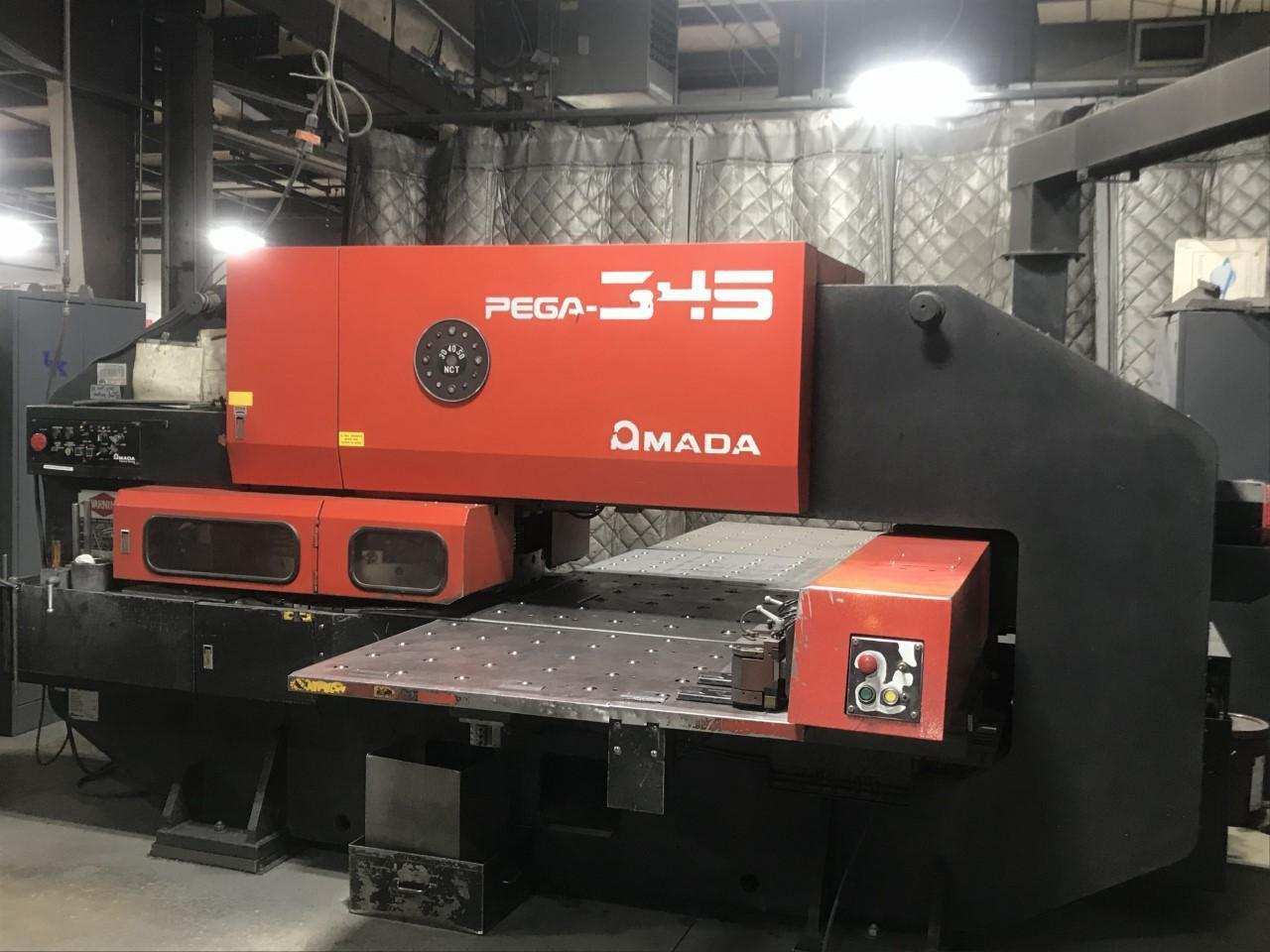 "1990 Amada Pega345Q CNC Turret Punch, 33 Ton, 40"" x 50"" Travels"