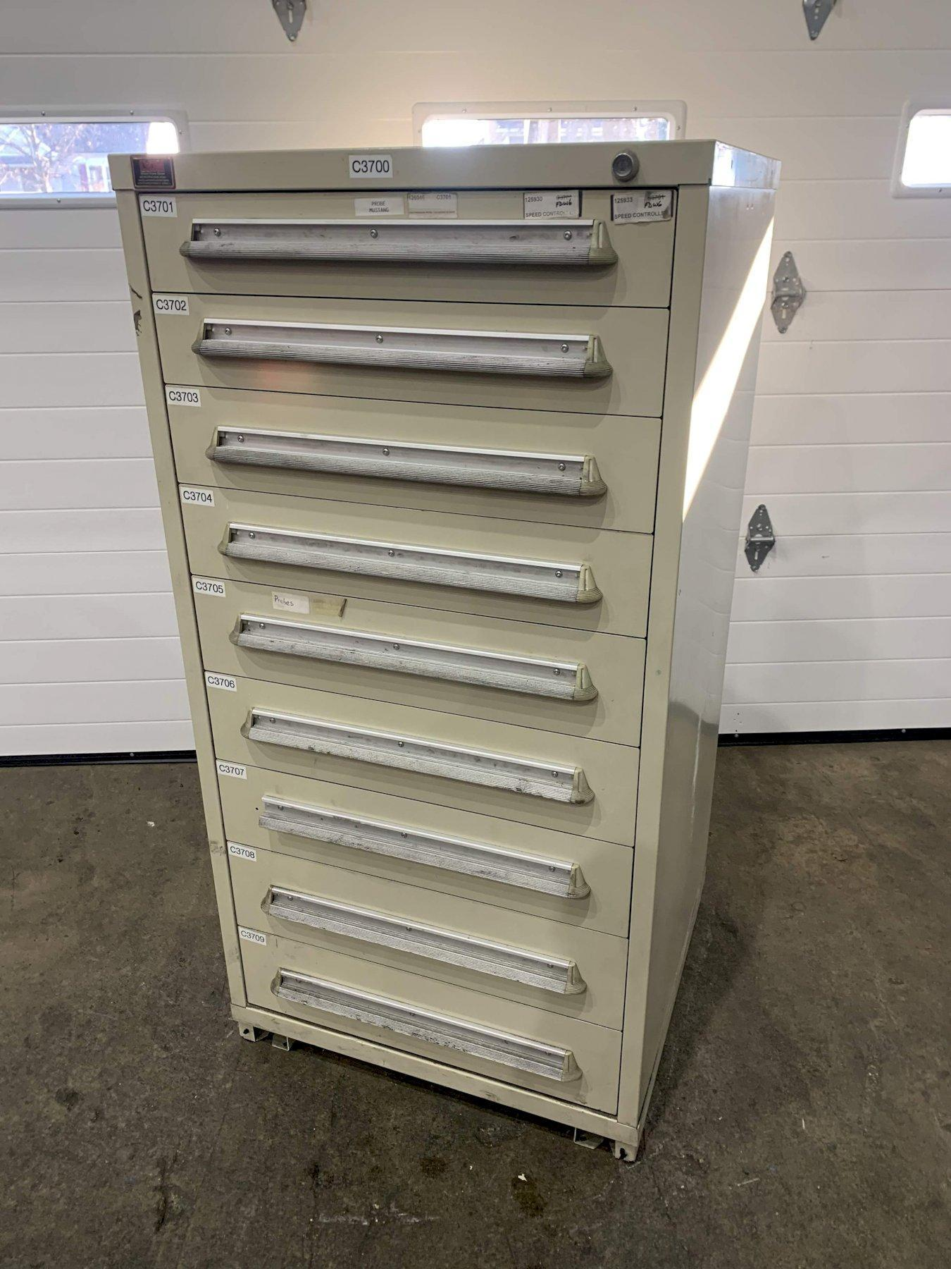 9 DRAWER LYON CABINET: STOCK #73707