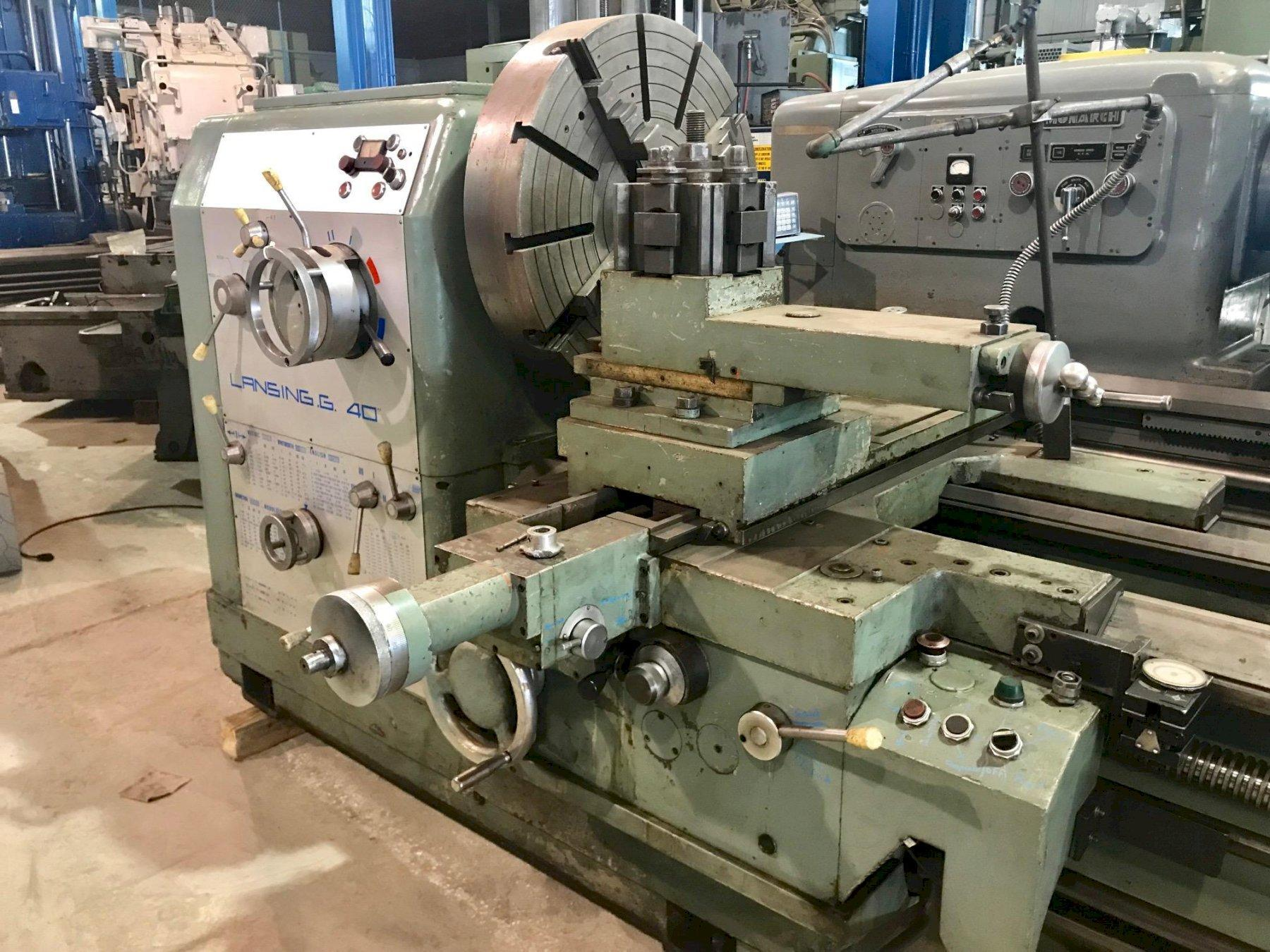 "40"" X 20' cc LANSING MODEL G ENGINE LATHE"