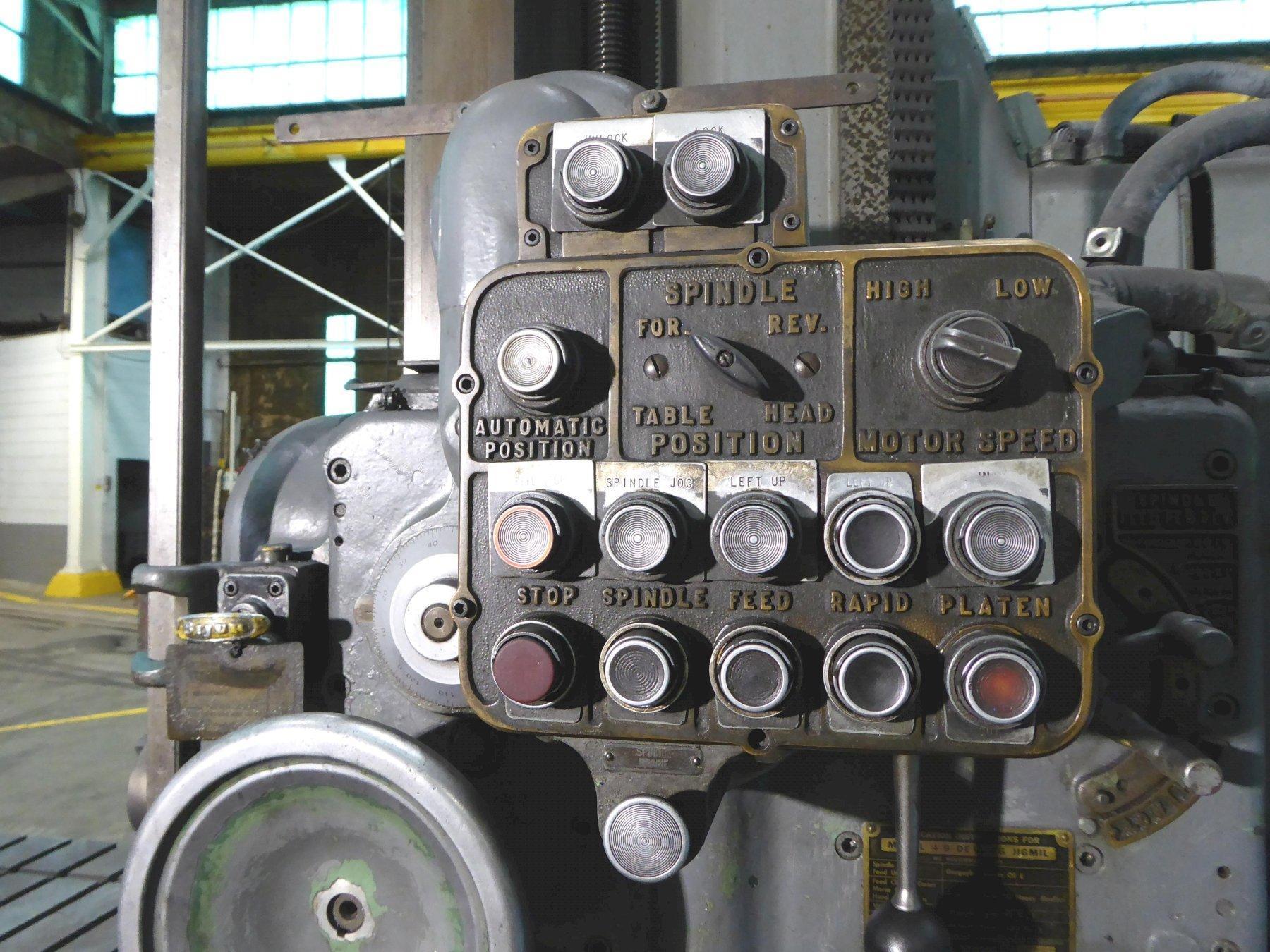 """4B-60 DeVlieg Jigmil, 36"""" x 60"""" Tbl., 50 Taper, 48"""" Vert., 10 HP, Low Price"""