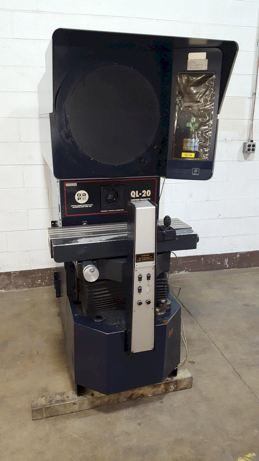"20"" Optical Gauging Products (OGP) Model QL-20S Contour Projection Comparator"