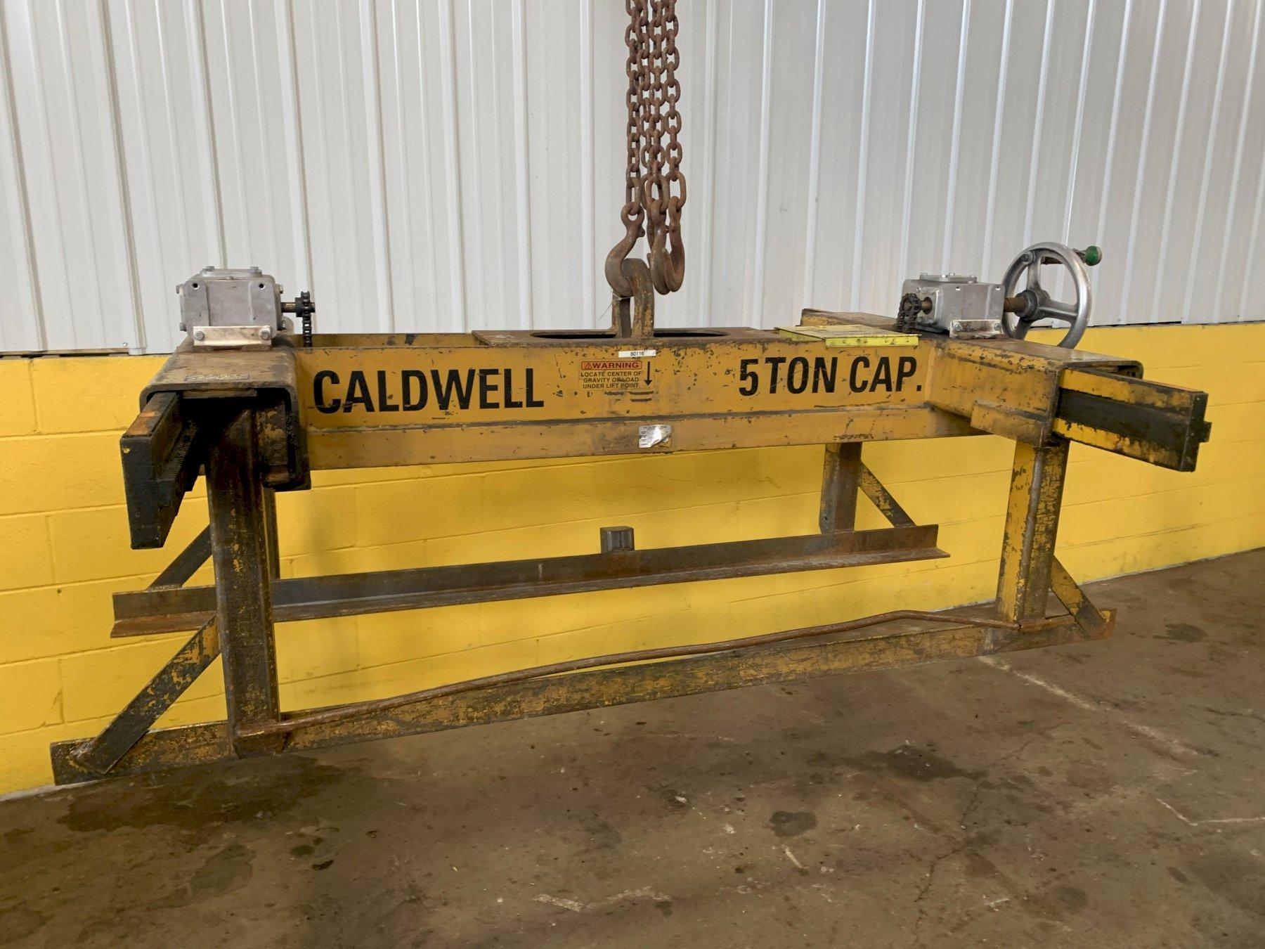 "10,000 LBS X 120"" X 24-80"" WIDE CALDWELL ADJUSTABLE SHEET LIFTER: STOCK #13065"