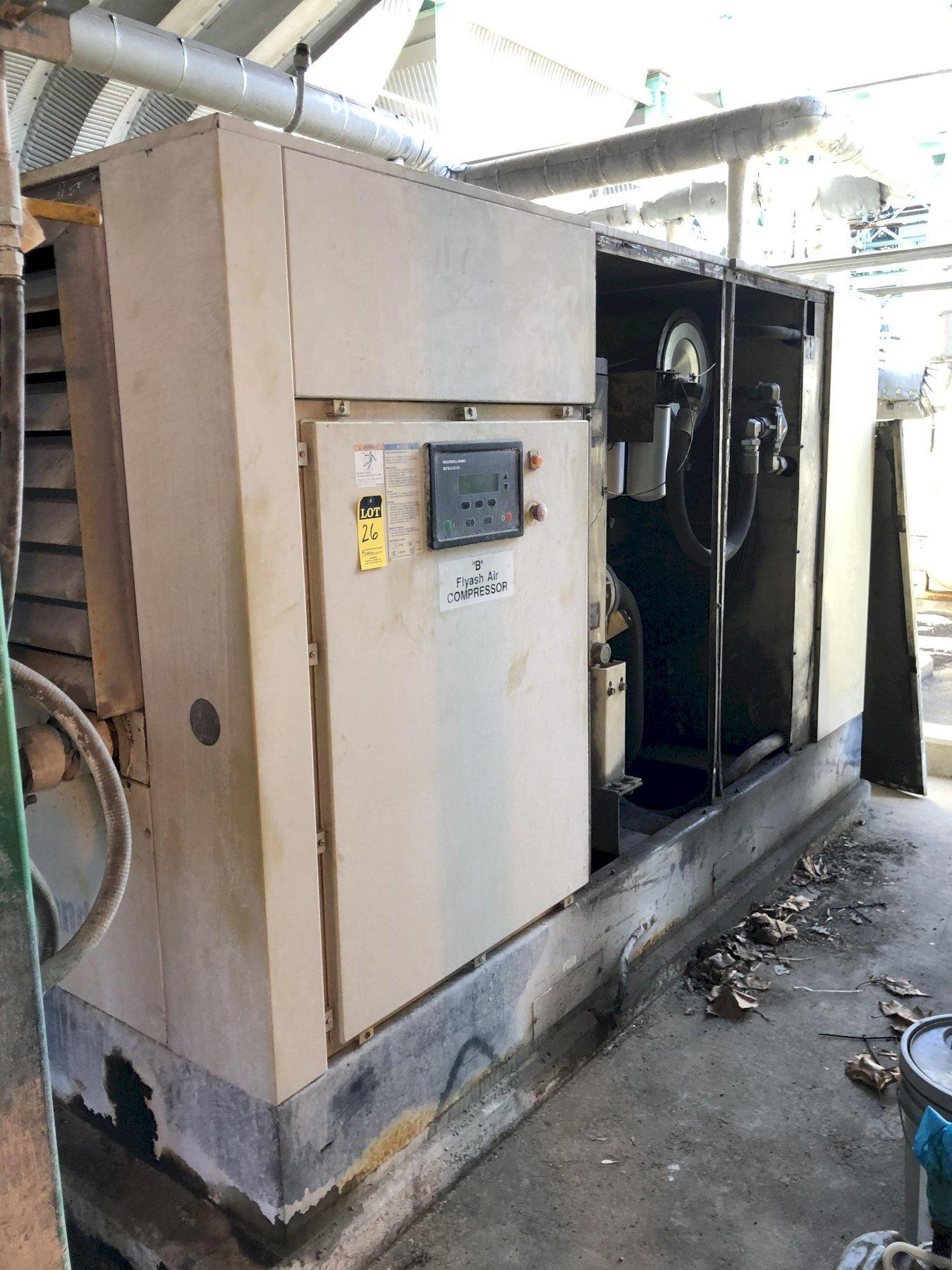 2003 Ingersol Rand model ssr-ep125 screw type air compressor s/n f38712u03125 rated at 125 hp, digital readouts