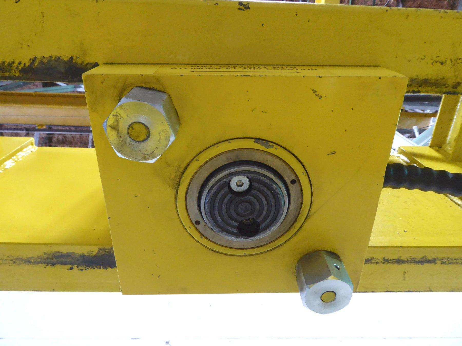 """50 Ton Enerpac H-Frame Hydraulic Press No. IPE5010, Electric, 13"""" Stroke, Pendant Control, 28"""" B.H., 1 Phase, Nice"""
