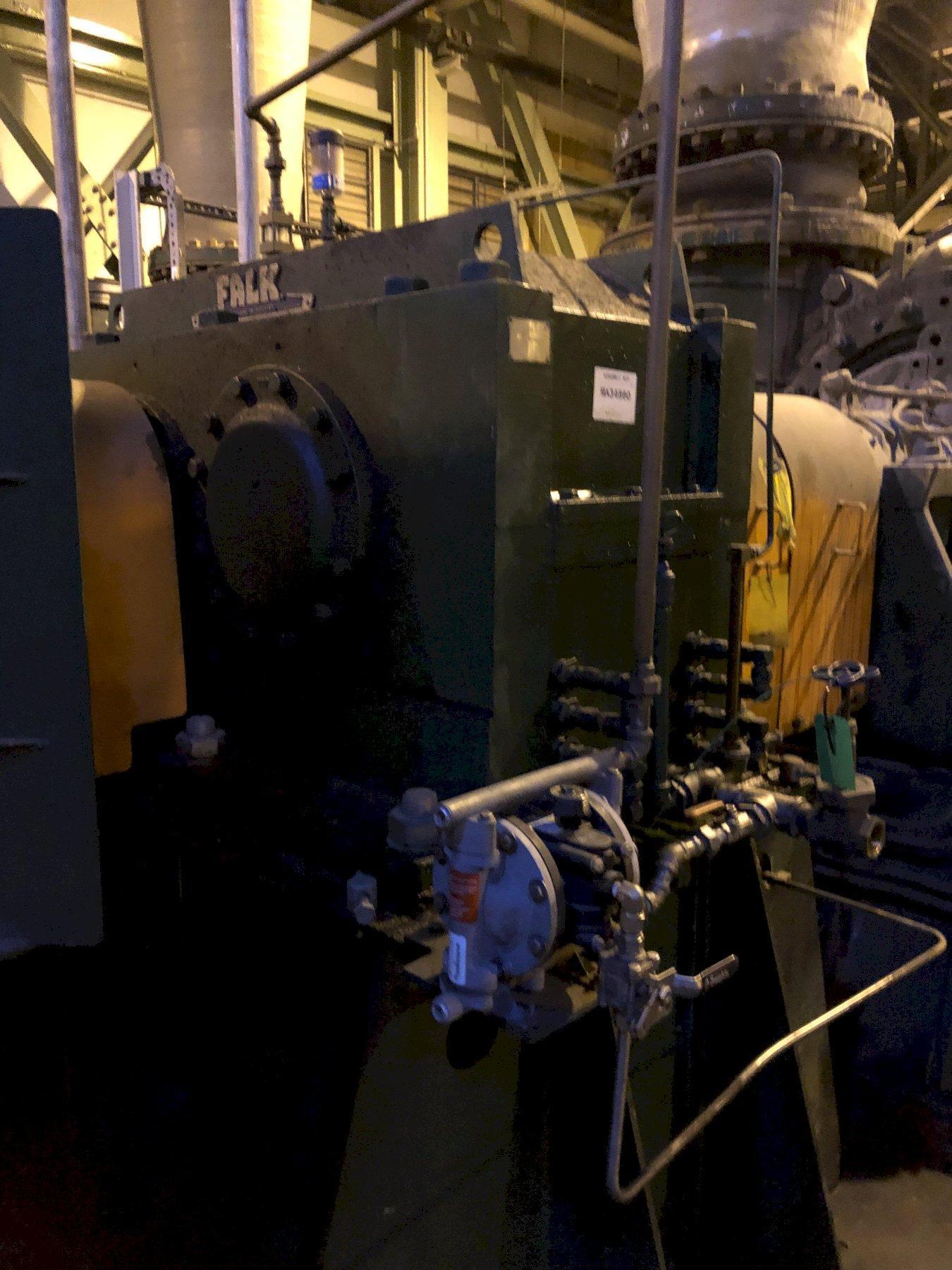 2008 recycle blower system with Siemens 1750 hp motor 6600 volt s/n 079172?020-1, Falk dolrs-gear-ooo2b gearbox, Harman 800gsl blower model 80tycslraamm163 s/n mds299917m