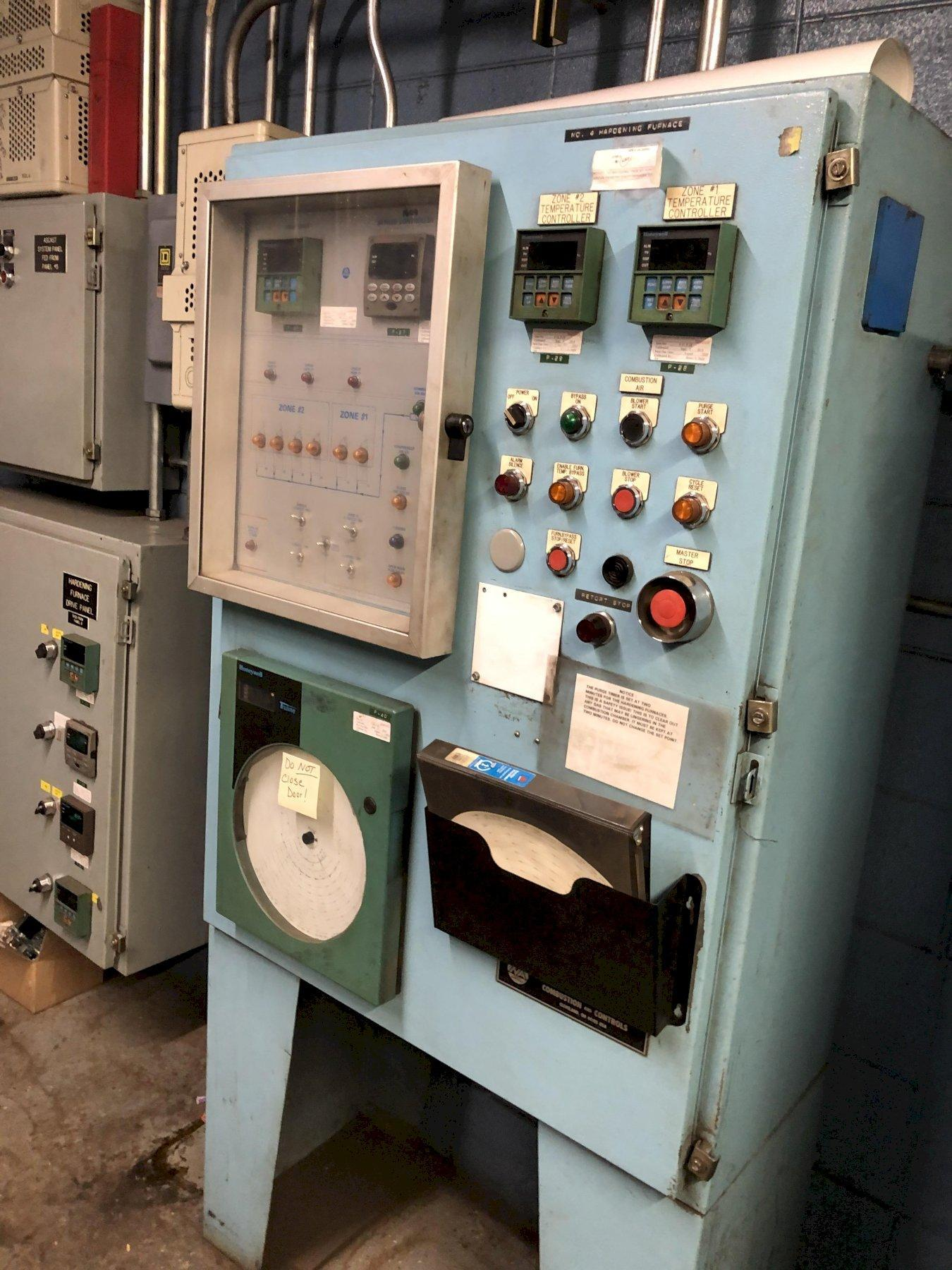 6- available rotary Hardening and tempering Furnaces with north American burner controls, stainless steel retorts and controls, air quench, priced each