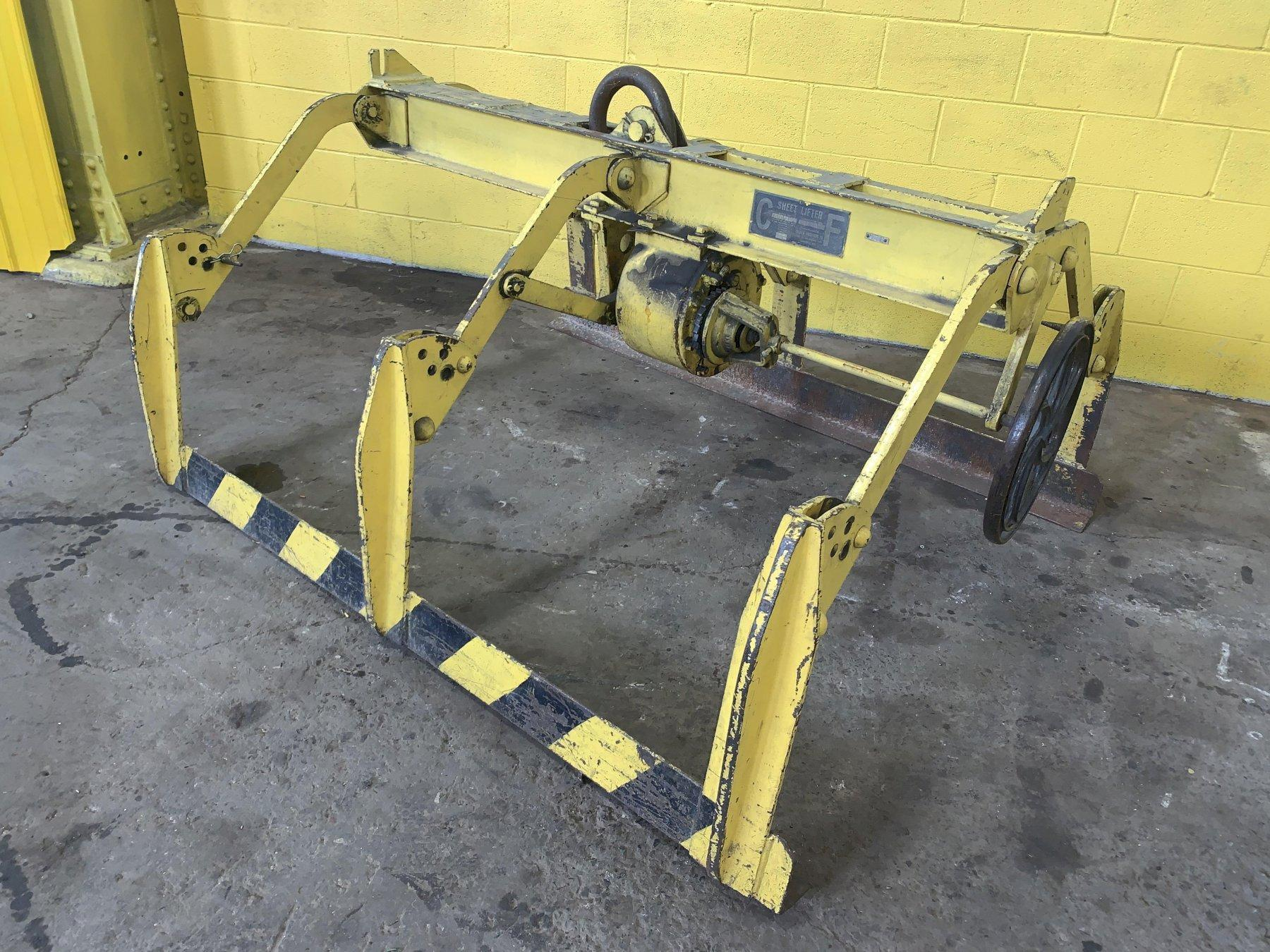 "10,000 LBS X 60"" WIDE C.F. ADJUSTABLE PARALLELOGRAM SHEET LIFTER: STOCK #13064"