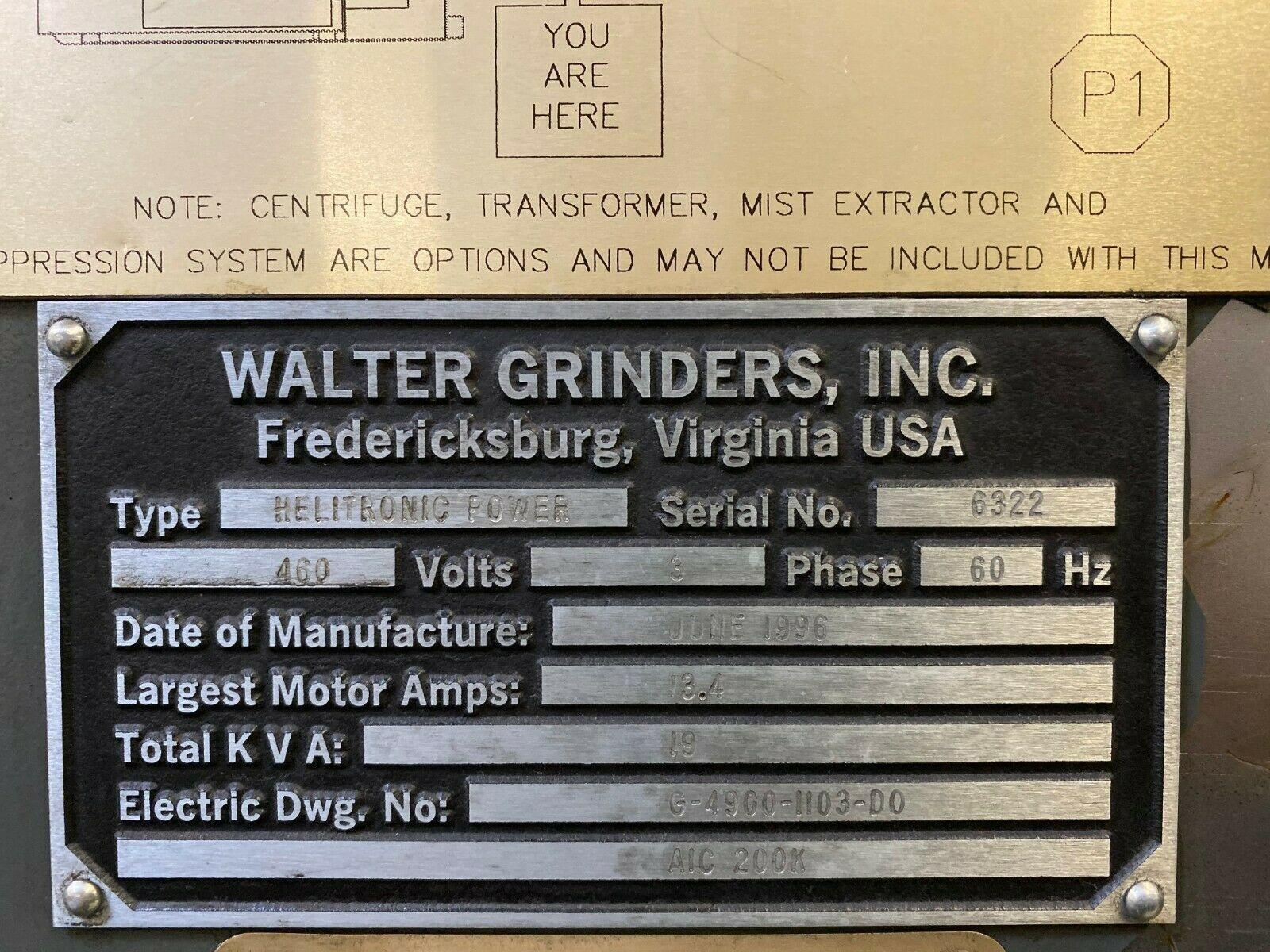 WALTER HELITRONIC POWER HMC-400 5-AXIS CNC TOOL & CUTTER GRINDER