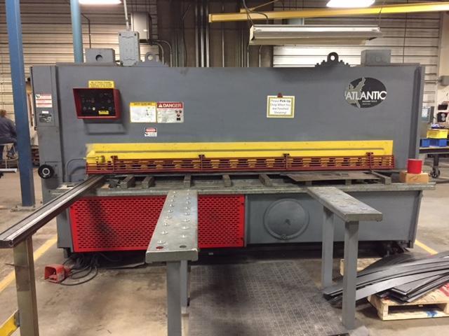 "1/2"" x 10 ft Used Atlantic Hydraulic Power Shear Model HDS10 x 1/2"