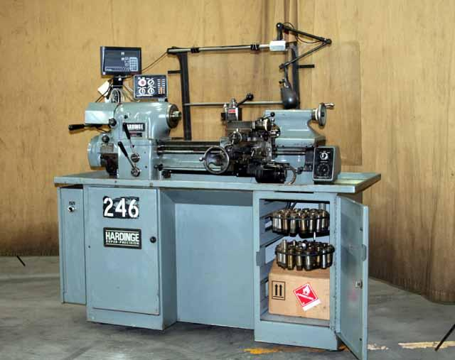 10 x 18 Hardinge Model HLV-H Super Precision High Speed Tool Makers Lathe, DRO, Well tooled, 1995