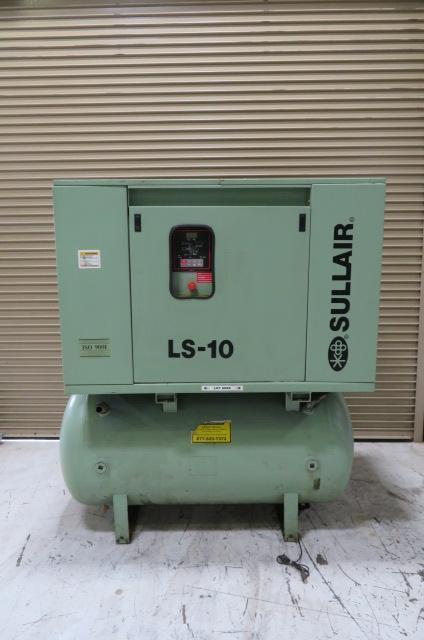 Sullair Used LS-10, 40hp Air Compressor, 125 psi, 460V