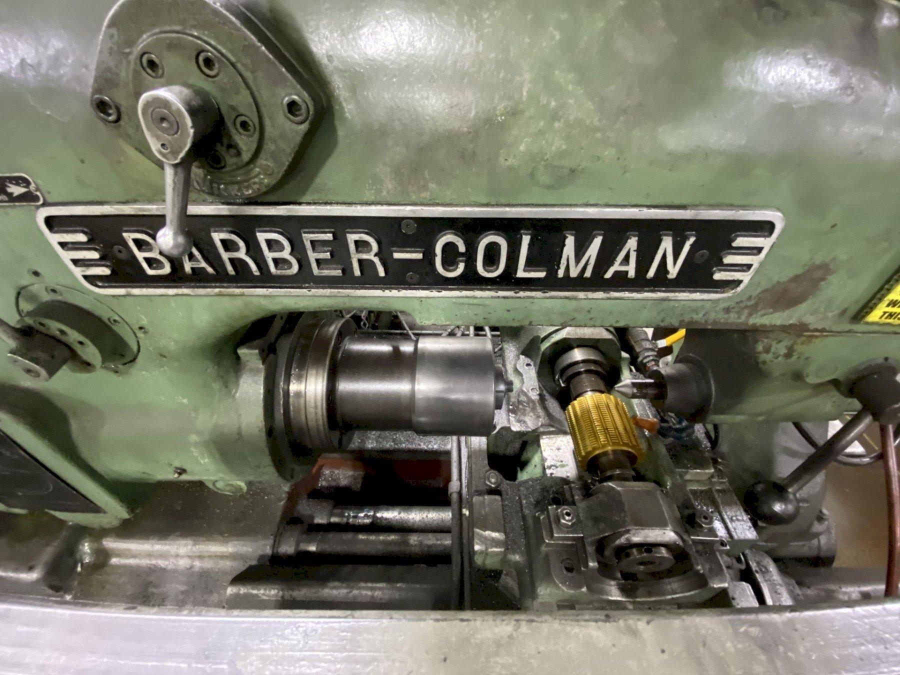 "14-15 BARBER COLMAN HORIZONTAL GEAR HOBBER, 14"" Max Work Diameter, 15"" Max Hob Slide Travel, 6.25"" Max Hob Diameter, Auto Hob Shift, Auto 2-Cut Cycle, Hydraulic Workhead, Hydraulic & Coolant System, New 1967."
