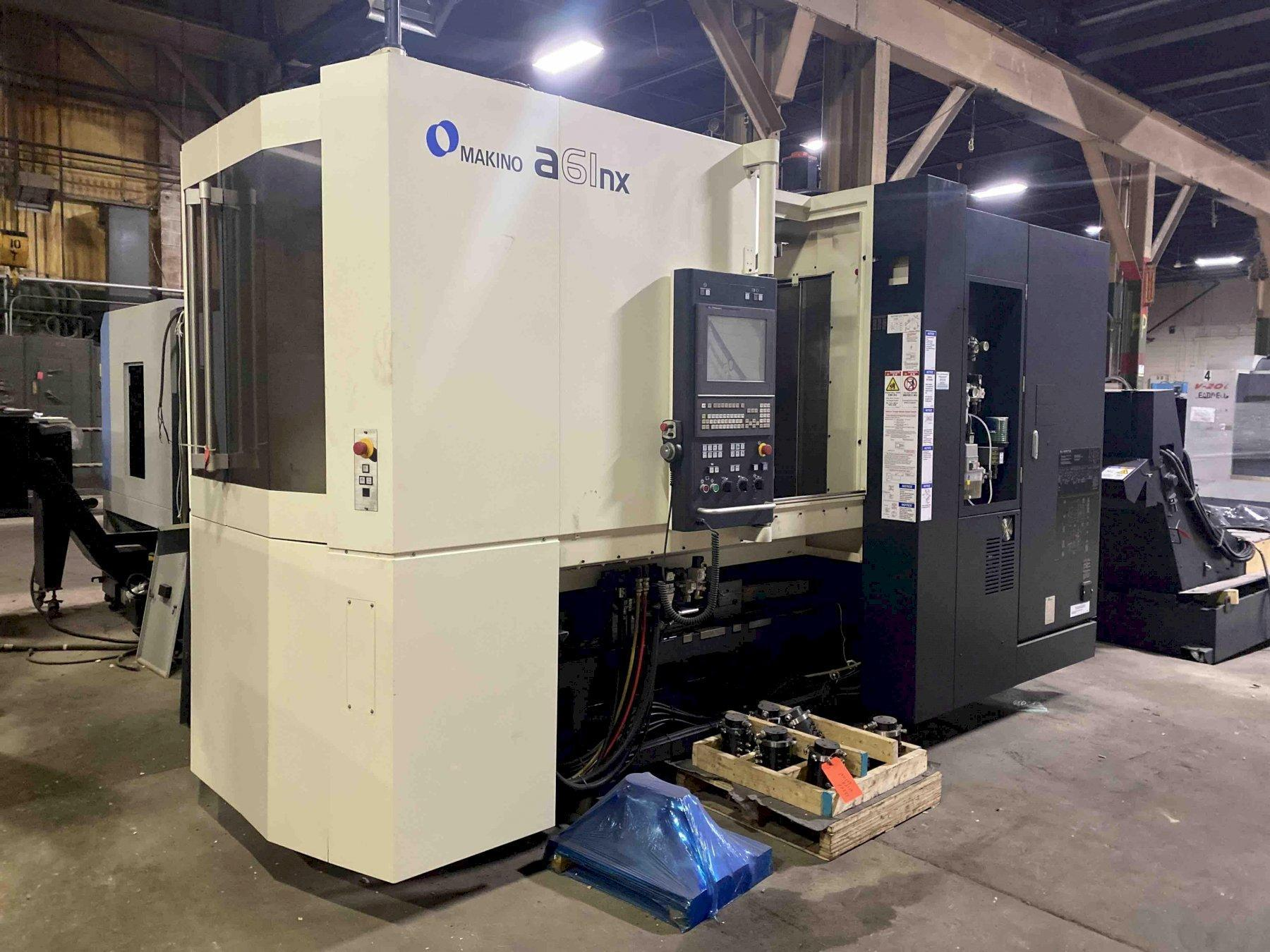 Makino A61NX CNC Horizontal Machining Center, Fanuc Pro 6 Control, 19.7