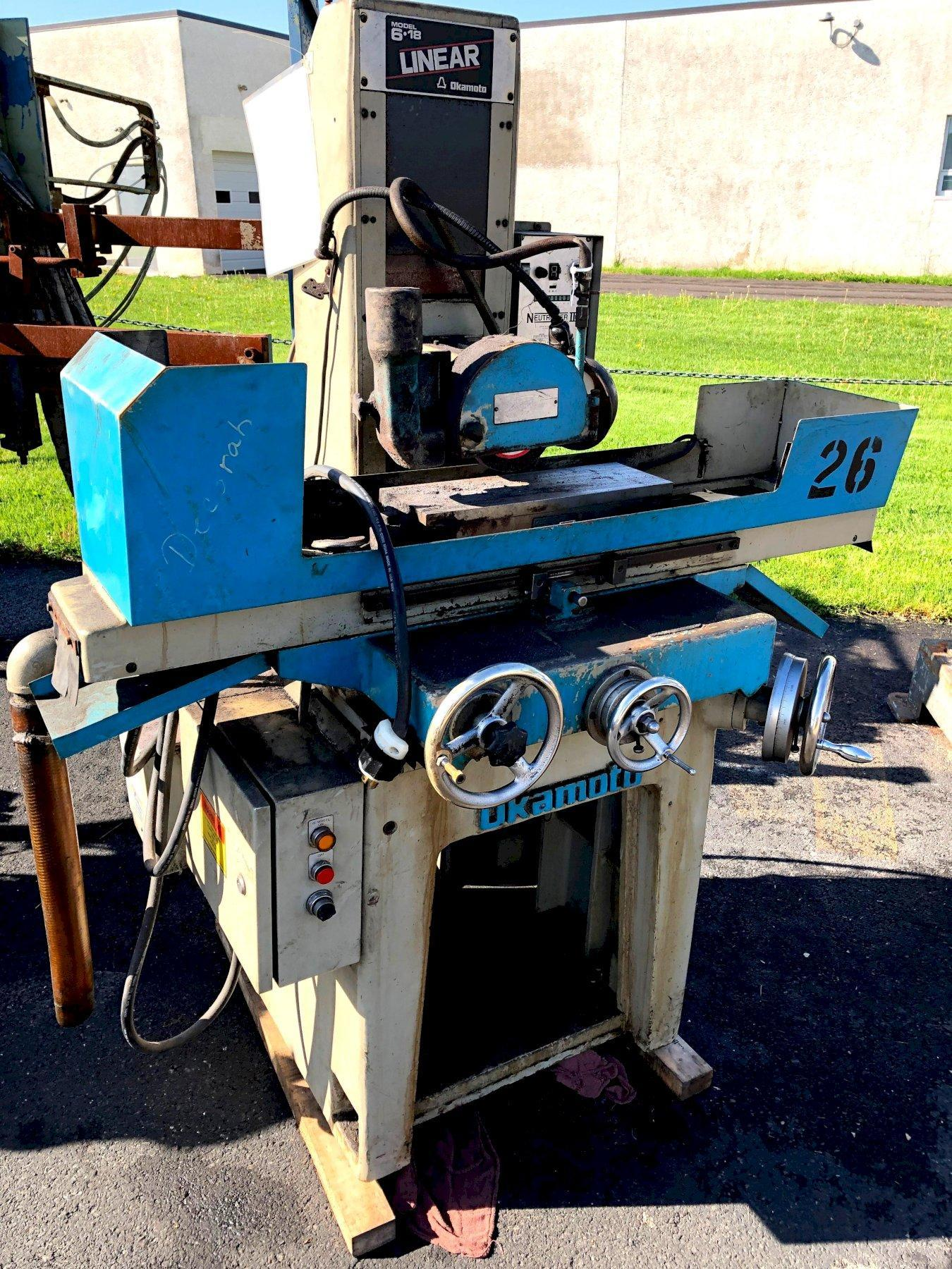 "Okamoto Linear Model 618 6""X 18"" Surface Grinder"