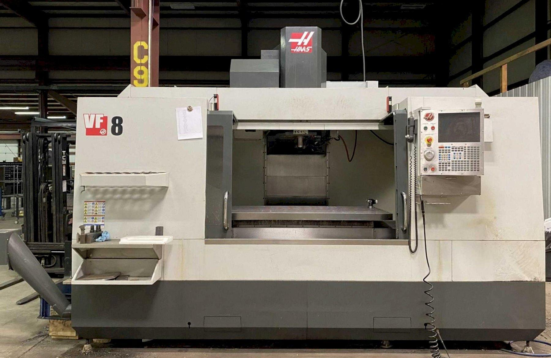 """Haas VF-8/40 CNC Vertical Machining Center, 64""""/40""""/30"""" Travels, 8100 RPM, CT40, 30 Side Mounted ATC, 4th Axis Rdy, Ethernet, Prog Clnt, Low Hours, 2012"""