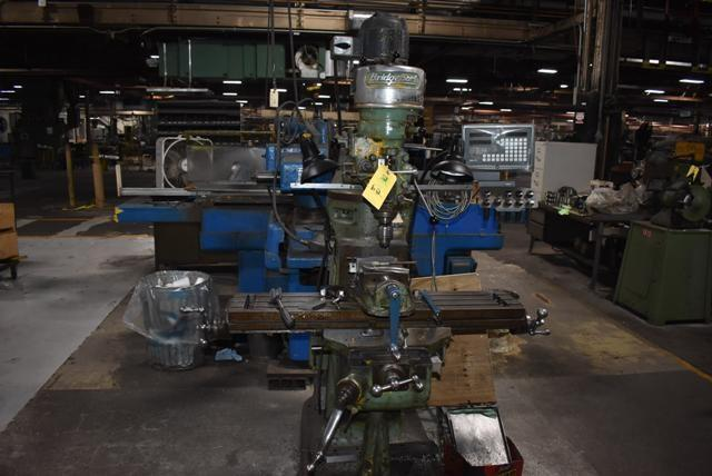 "9"" X 42"" BRIDGEPORT #J VERTICAL MILLING MACHINE: STOCK #11963"