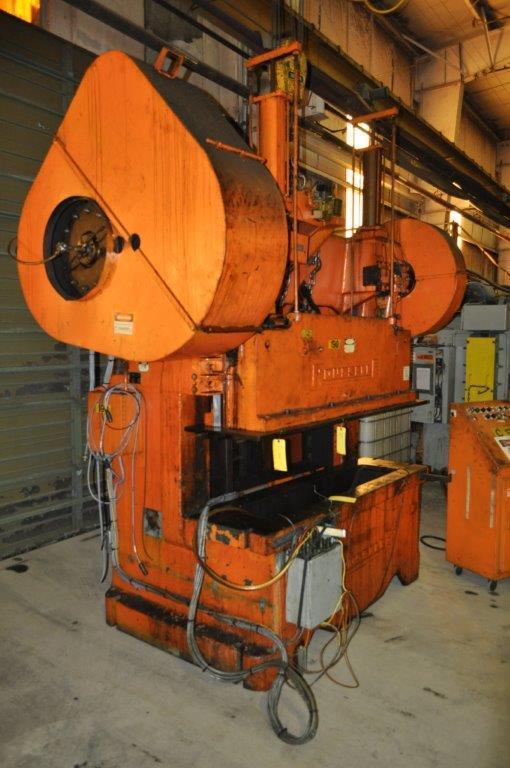 100 Ton Rousselle Gap Frame Double Crank Press