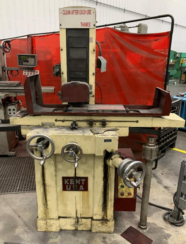 "Kent # KGS618, 6"" x 18"" Horizontal Reciprocating Surface Grinder, MFG. 2010"