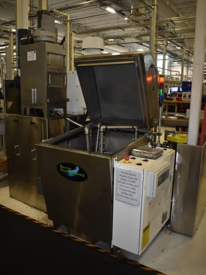 """25"""" X 18"""" BETTER ENGINEERING MODEL #T-2500 TOP LOADING ROTARY PARTS WASHER: STOCK #15565"""