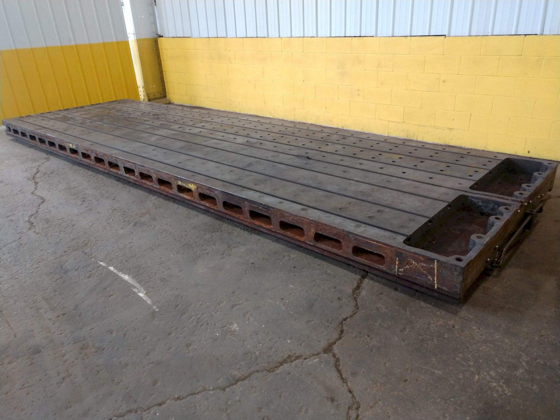 "6.5' (80"") x 22' (264"")  T SLOTTED FLOOR PLATE PLANER TABLE: STOCK 13636"
